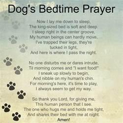 Bedtime Dogs Prayer Poem