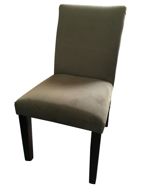 west elm grey tailored dining chairs s 4 chairish