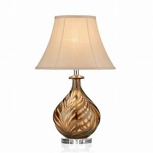 Dar lighting tiger tig4229 polished chrome glass table for Taliesin 1 table lamp