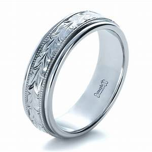 custom hand engraved wedding band 1213 With mens wedding rings engraved