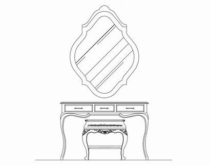 Drawing Console Cad Wooden Cabinet Blocks Dwg