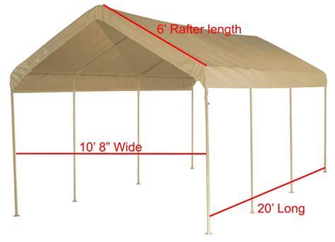heavy duty valance replacement canopy tarp carport cover     frame white ebay