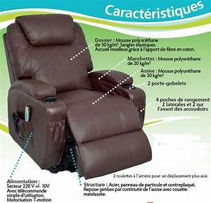 Siege Massant Chauffant : fauteuil relax massant cuir kalinka ~ Premium-room.com Idées de Décoration
