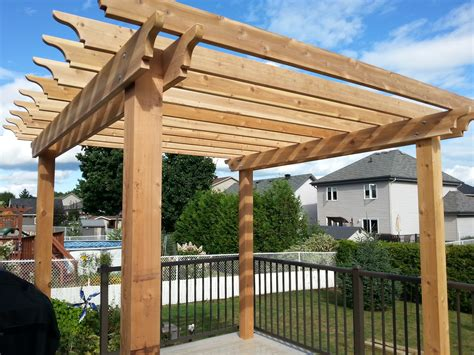 pressure treated pergola custom woodworking in ottawa