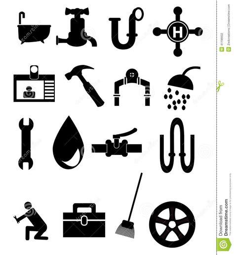 plumbing icon set stock vector image  plumbing