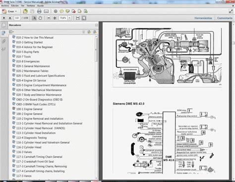 bmw serie 3 e46 manual de taller service manual manuale d officina