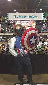 The Winter Soldier Holding Captain America U0026 39 S Shield And My