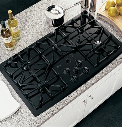 ge profile jgpbekbb   gas sealed burner style cooktop  black appliances connection