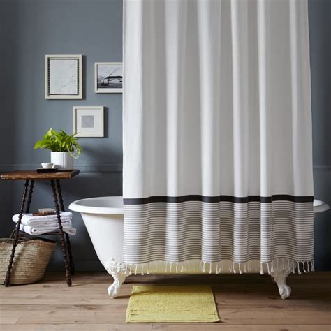 Navy And White Striped Curtains West Elm by The In Shower Curtain Trends