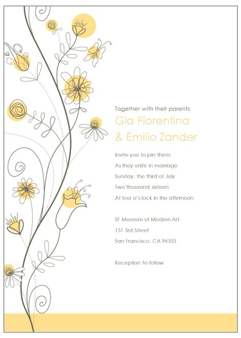 Invitation Template Email Wedding Invitations Templates