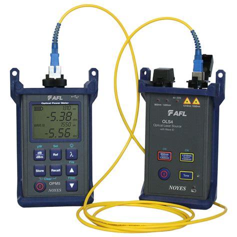 power meter light source test optical loss test set noyes smlp5 5 from afl