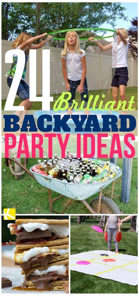 24 Brilliant Backyard Party Ideas Backyard party