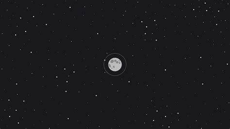 Moon Space Minimal, Full Hd Wallpaper