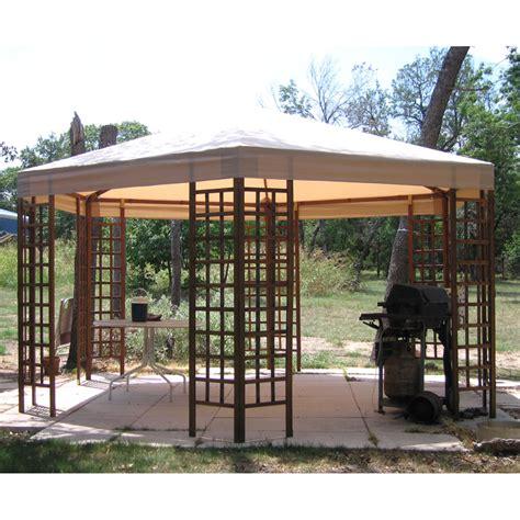 sams club  wood hexagon gazebo garden winds