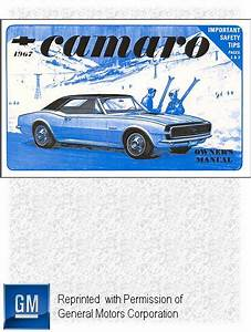 1967 Chevrolet Camaro  Camaro Ss Owner U0026 39 S Manual