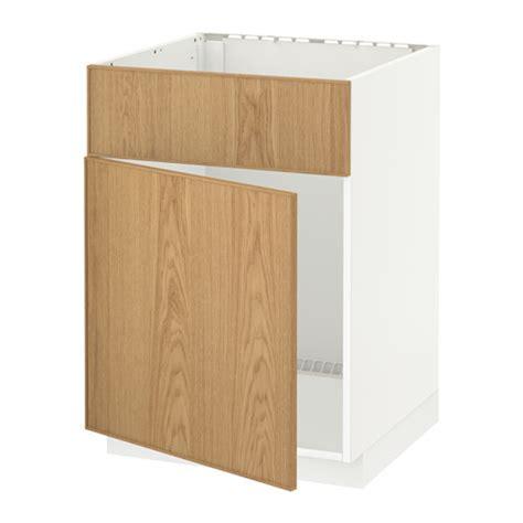 metod base cabinet f sink w door front white ekestad