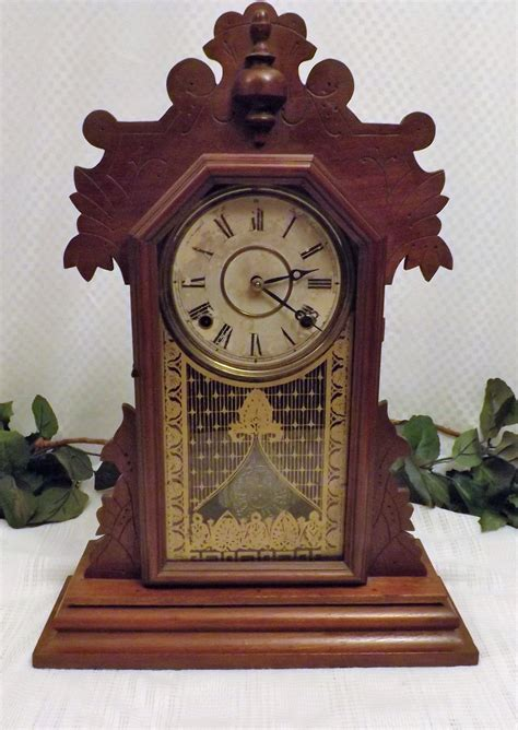 antique   ingraham  gingerbread kitchen clock