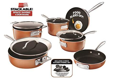nonstick personal sized fry pan sauce pan wok  grillgriddle pan nests  easy storage