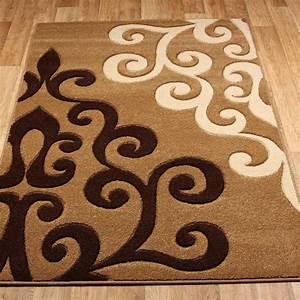 Tapis design et modernes pas cher grands tapis salon for Tapis de marche avec canapé marron pas cher