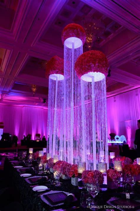 crystal column centerpiece dream design lighting decor