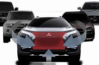 Dynamic Mitsubishi Shield Motors Concept Performance Designs