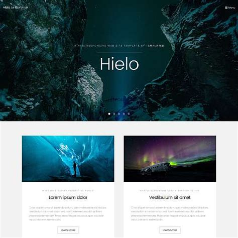 top free photography website templates 20 top best free html templates 2018 themelibs