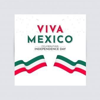 Background with mexico logo for independence day | Free Vector