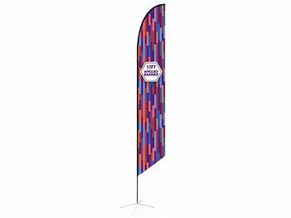 Feather Cross Base 17ft Angled Flag Water