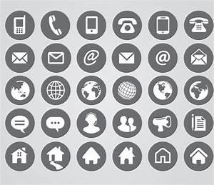Free Vector Contact Symbols