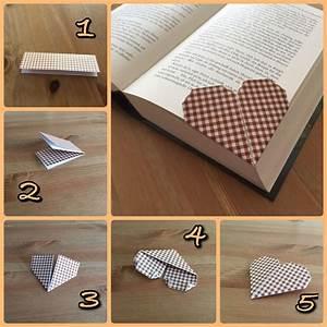 Herz Basteln Anleitung : origami herz lesezeichen basteln pinterest herz ~ Lizthompson.info Haus und Dekorationen