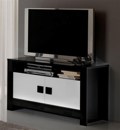 plus cuisine moderne meuble tv pisa laquée bicolore noir blanc noir blanc