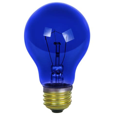 25 watt light bulb sunlite incandescent 25 watt a19 blue transparent 1250
