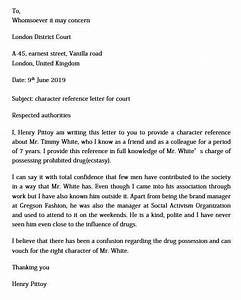 How To Write A Letter Of Character Reference Character Reference Letter For Court And What To Write In