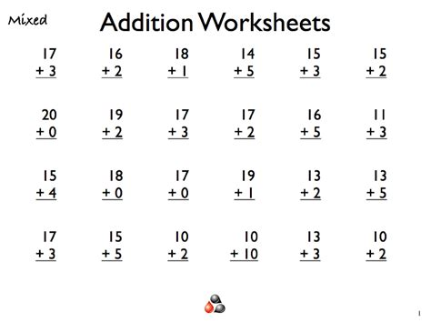 Addition For Worksheets For Grade 1 Is Helpful Educative Media  Dear Joya  Kids Activity Math