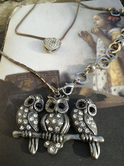 Bird necklace jewelry enamel copper birdjewelry krupkowska enameledcopper enameledjewelry. owl necklace pendant, animal jewelry, vintage style ...