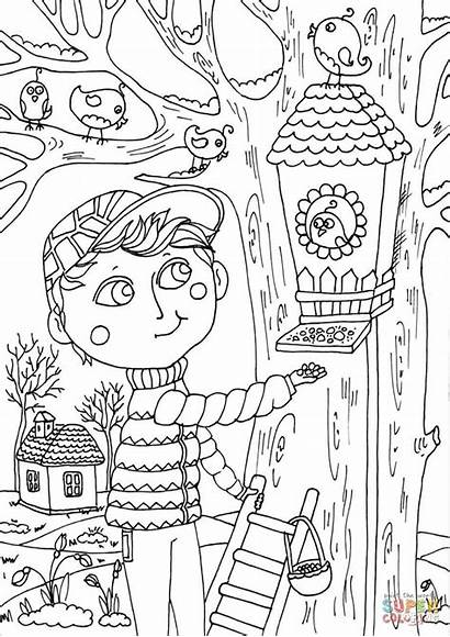 Coloring March Pages April Printable Spring Boy