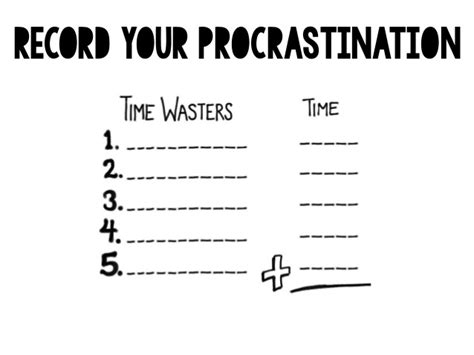 procrastination worksheet worksheets ratchasima