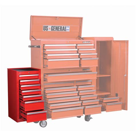 Tool Chest Side Cabinet by 18 In 7 Drawer Glossy End Cabinet For Roller Tool Chest
