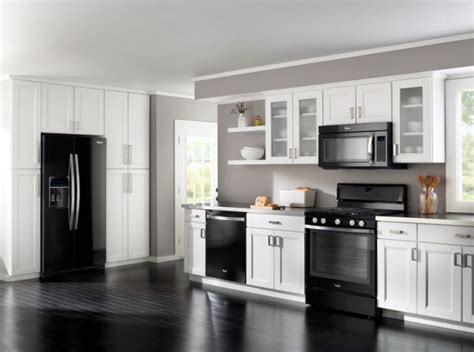 black kitchen cabinets white appliances how to decorate a kitchen with black appliances decor 7883