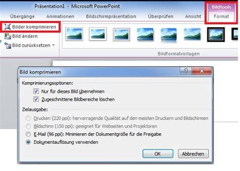 powerpoint bilder komprimieren chip