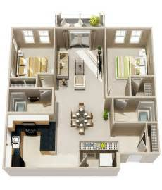 two bedroom house 50 3d floor plans lay out designs for 2 bedroom house or apartment