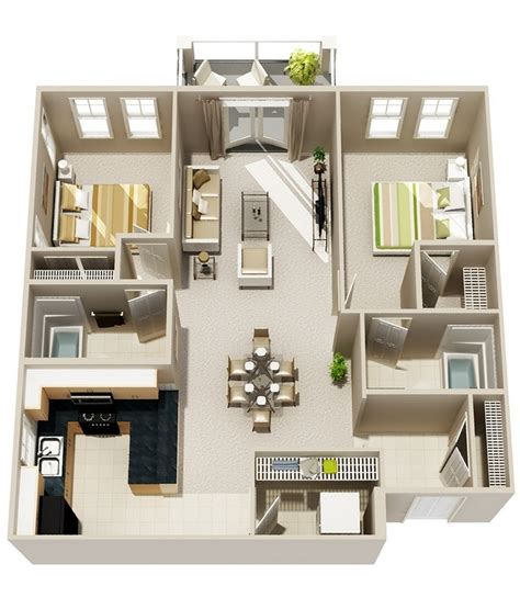 2 room house design 50 3d floor plans lay out designs for 2 bedroom house or apartment bahay ofw
