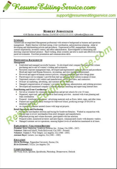 Target Resume Format by Professional Targeted Resume Editing Service Resume