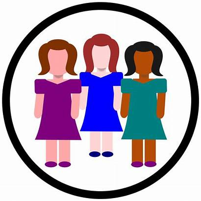 Clipart Meeting Icon Circle Person Clip Woman
