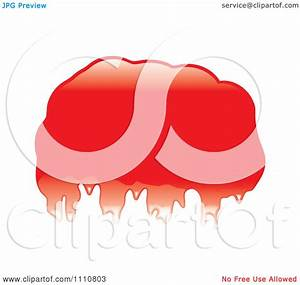 Clipart Shiny Red Blob Or Splatter - Royalty Free Vector ...