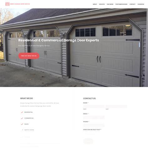 Greg's Garage Door Service Website Design  Eleven Tree Media