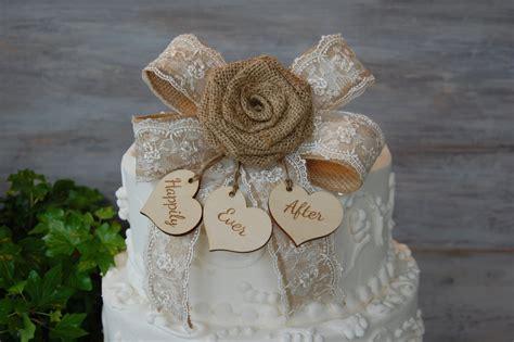 Rustic Cake Topper / Burlap Cake Topper / Shabby Chic Cake