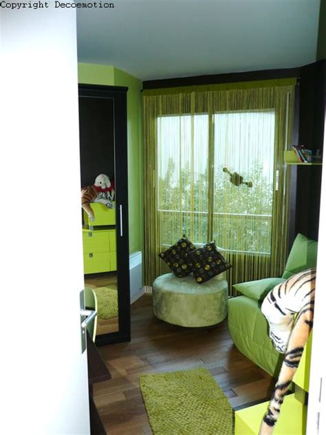 chambre verte décoration chambre verte et marron