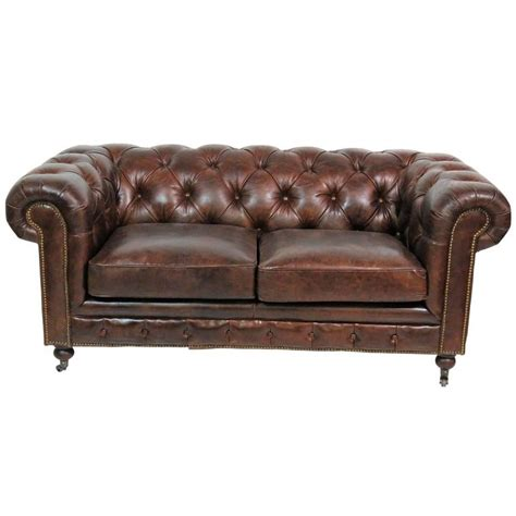 chesterfield sofa brown leather georgian style brown leather tufted chesterfield sofa for