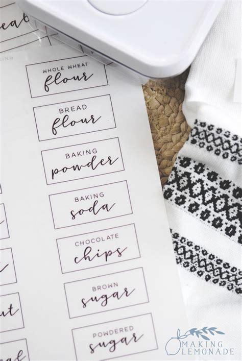 printable pantry labels  organize  kitchen